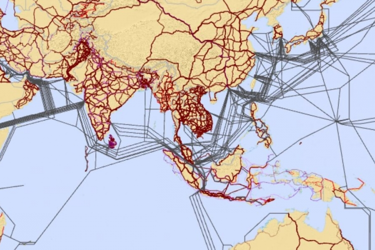 ESCAP ITU Asia-Pacific Information Superhighway Maps