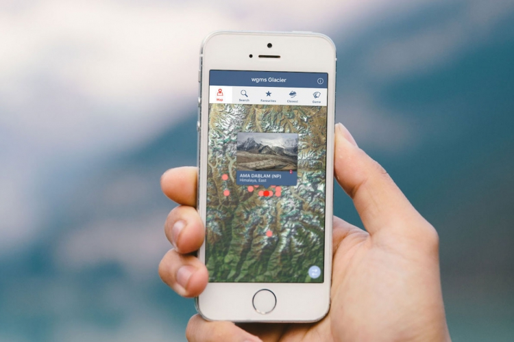 Glacier smartphone application